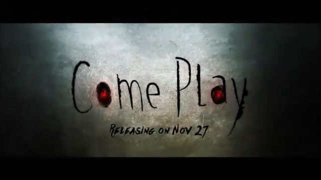 The evil has found his playdate. Bring a mate along to watch #ComePlay in Cinemas near you; movie releases on 27 November.   @JacobSChase @RobertsonAzhy #GillianJacobs @JohnGallagherJr  #AlexHeineman #AndrewRona @amblin @RelianceEnt @Shibasishsarkar @comeplaymovie