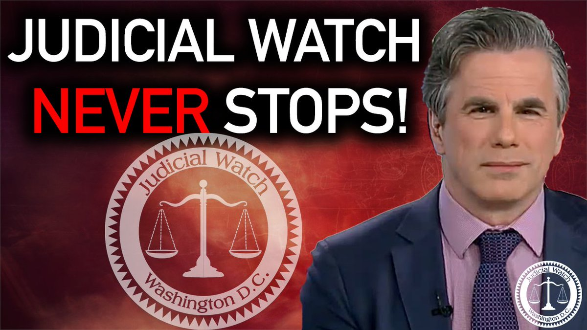 """Image for the Tweet beginning: .@TomFitton: """"Judicial Watch will continue"""