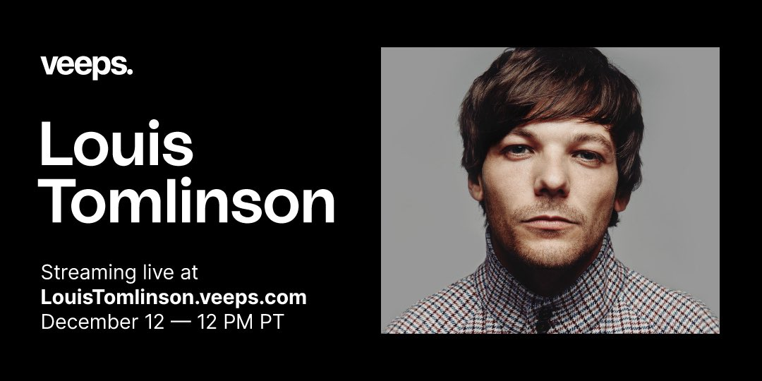 .@Louis_Tomlinson is getting his band together for a very special live show from London on December 12th. Buy your tickets early for a chance to take part in the show! Tickets on sale Wednesday, November 25th at 4pm GMT/8am PT.