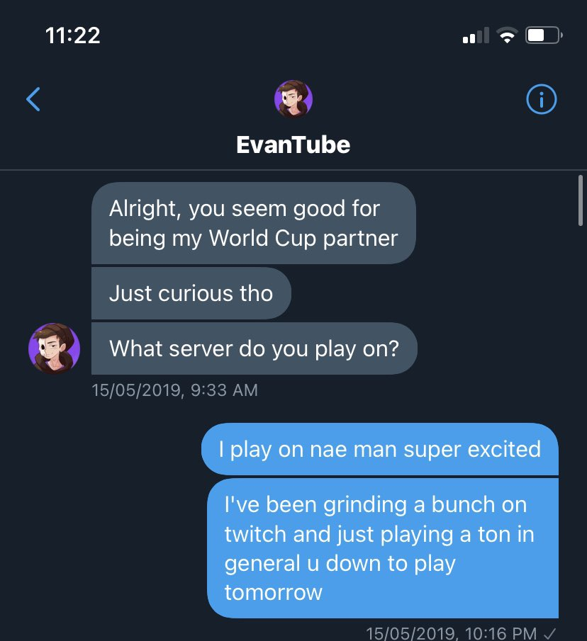 @ItsEvanTube ... unfollowed and forgot about me #worldcup