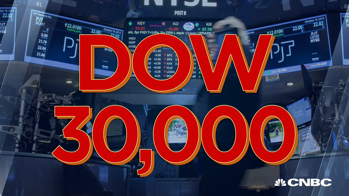 BREAKING: Dow Jones Industrial Average hits 30,000 for the first time  https://t.co/ByFdteR26G https://t.co/mwlPmULZV3