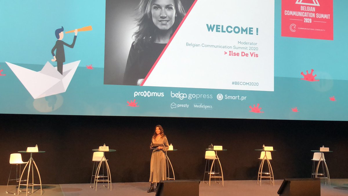 Live from the 2020 Communication Summit with our moderator Ilse De Vis! Let's get this party started ! #BECOM2020 #digitalevent https://t.co/dDfo6G65iz