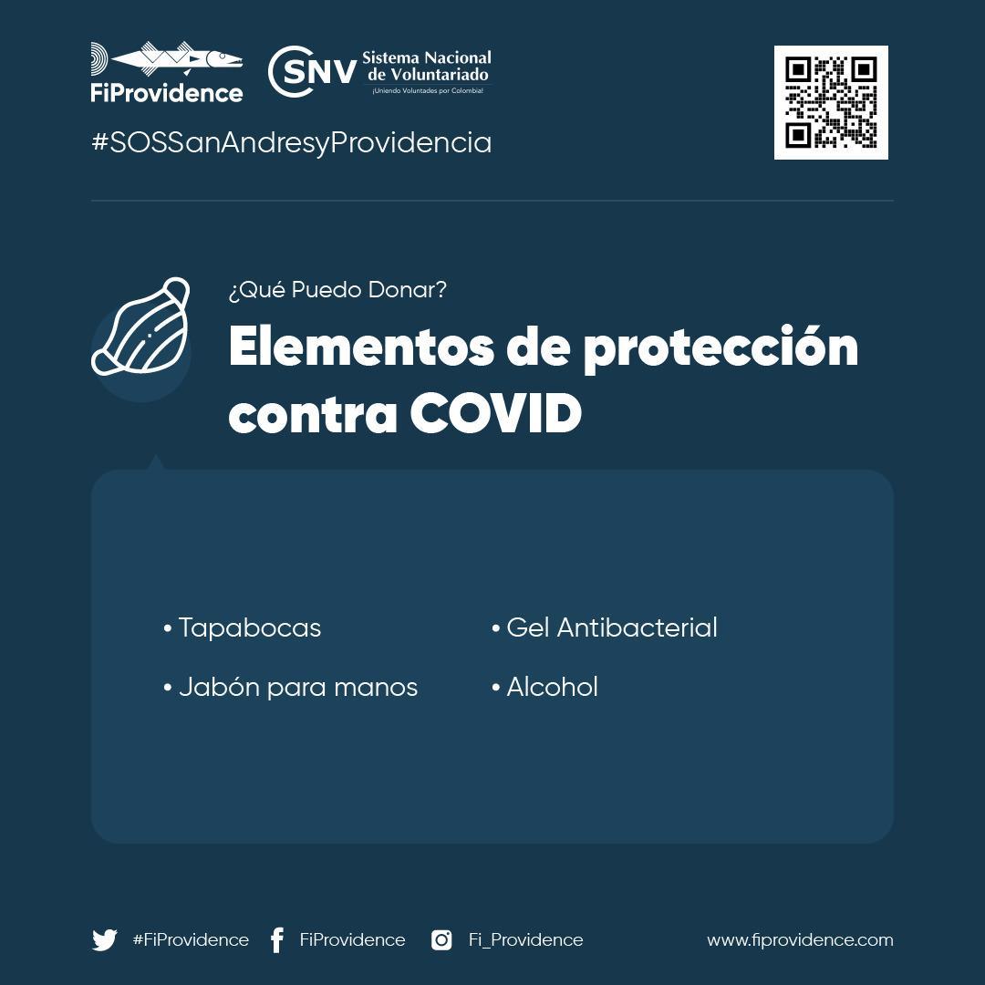 #SOSSanAndresyProvidencia | En distintas regiones del país, #FiProvidence está recibiendo donaciones de elementos de protección contra el COVID-19 para apoyar Puedes donar: tapabocas, jabón para manos y más  Visita www.colombiacuidacolombia #ColombiaCuidaColombia