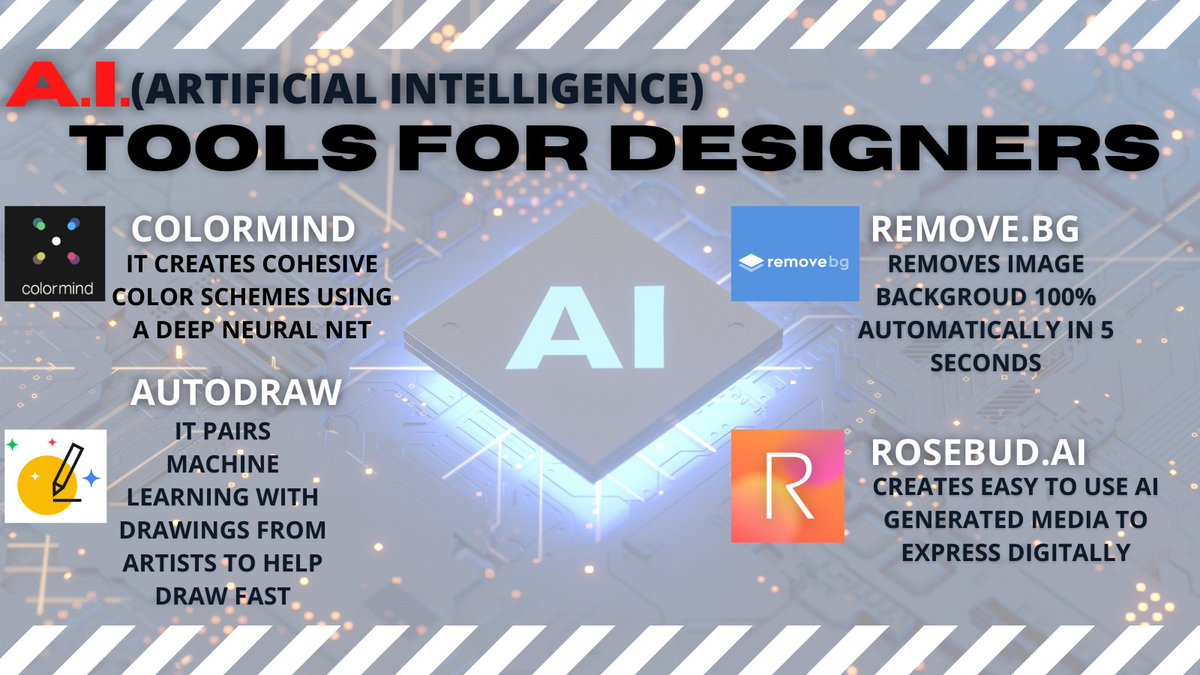 """""""Our intelligence is what makes us human, and AI is an extension of that quality.""""- @ylecun  @RemoveBG @Rosebud_AI @fchollet @GoogleAI @adii @davidlano @cameronolivier @vpieters @swissmiss  #designers #AI #ArtificialIntelligence #Online #digitalart #graphicdesign #tool #Artist 🤖 https://t.co/qGqNGwJRgz"""