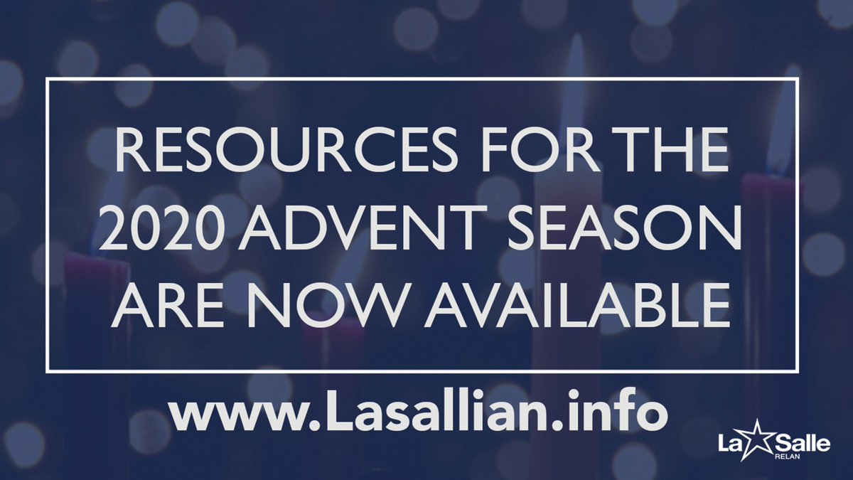 Advent starts Sunday! Check out these resources, including materials from @fscDENA, @DistrictSFNO, @FSCvocations, @SaintMarysPress and more! https://lasallian.info/resources-for-the-2020-advent-season/