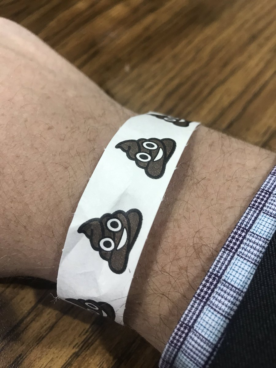 Replying to @DanMolloyTV: Milwaukee recount wristband today features this smiley plop