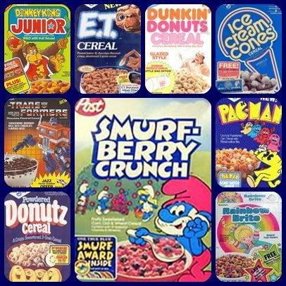 """Every 80's Cereal Commercial: """"Eat this Sugary Shit in the morning and you'll be able to perform Herculean acts all day and kick ass at sports!"""" #I❤️80's #SaturdayMornings"""