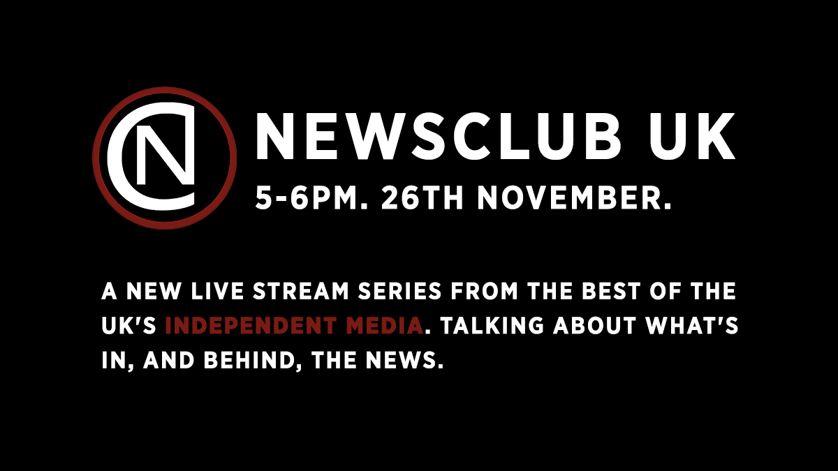 Join us at 5pm on Thursday for this weeks episode of News Club. Well be chatting to @hilarypepper of @RedPeppermag, author and journalist @desreereynolds and @kennardmatt of @declassifiedUK Dont miss it - watch here 👇 youtu.be/RGf1JiTRd8Q