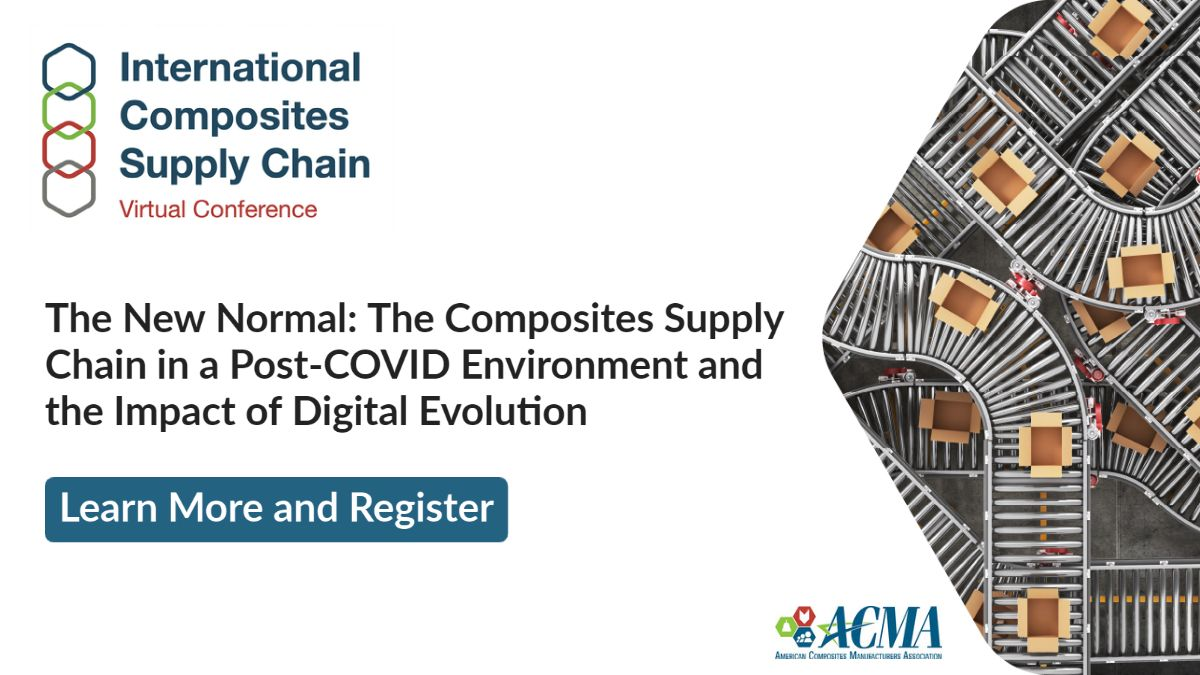 Early-registration is open for ACMA's new conference - the International #Composites Supply Chain Virtual Conference. Hear from a broad range of leading manufacturers, suppliers, distributors, & end-users https://t.co/yGMtR0J9Rc #supplychain #Recycling #Economy #DigitalTechnology https://t.co/HaKV5mUHbJ