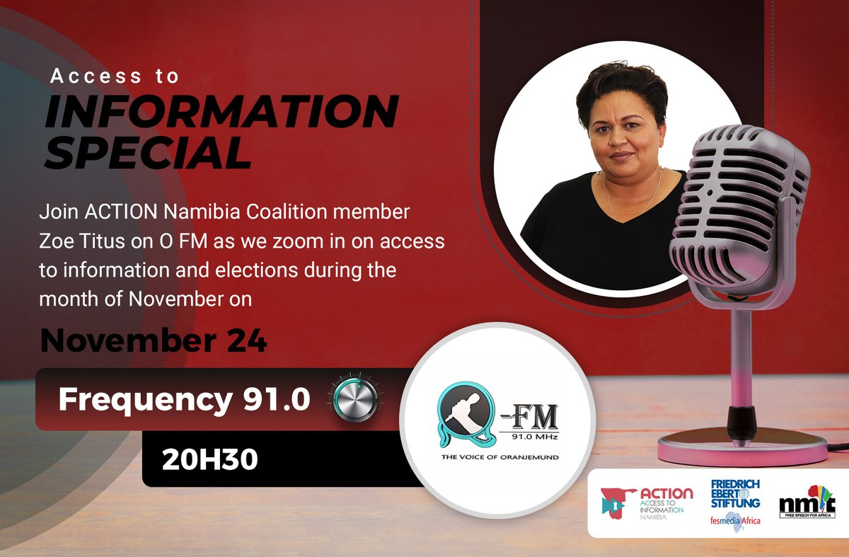 Access to information is important when it comes to elections because we live in a democracy & a fundamental element of democracy is the freedom to choose our political leaders through elections- @zoetitus  Tune in on OFM for the full interview. #IWillVote #NamVotes2020