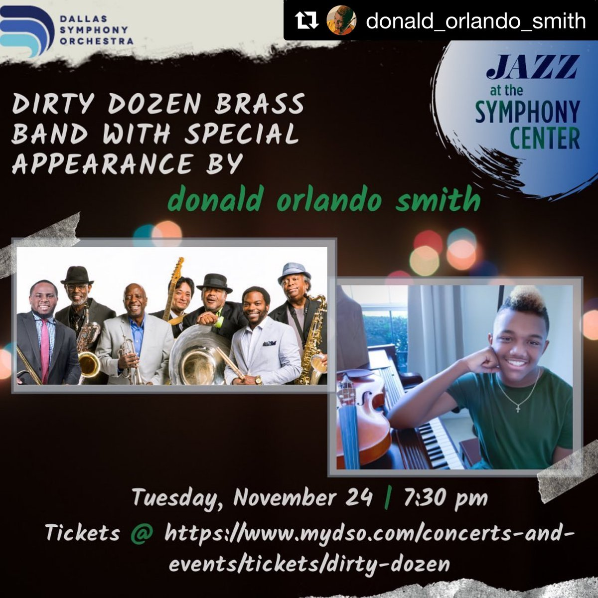 Tonight we're thrilled to return to the stage for a socially distanced performance at @dallassymphony Hall in partnership with the @tbaal. Student musician @donald_orlando_smith will open the show at 7:30pm https://t.co/K3OWBBNmmu