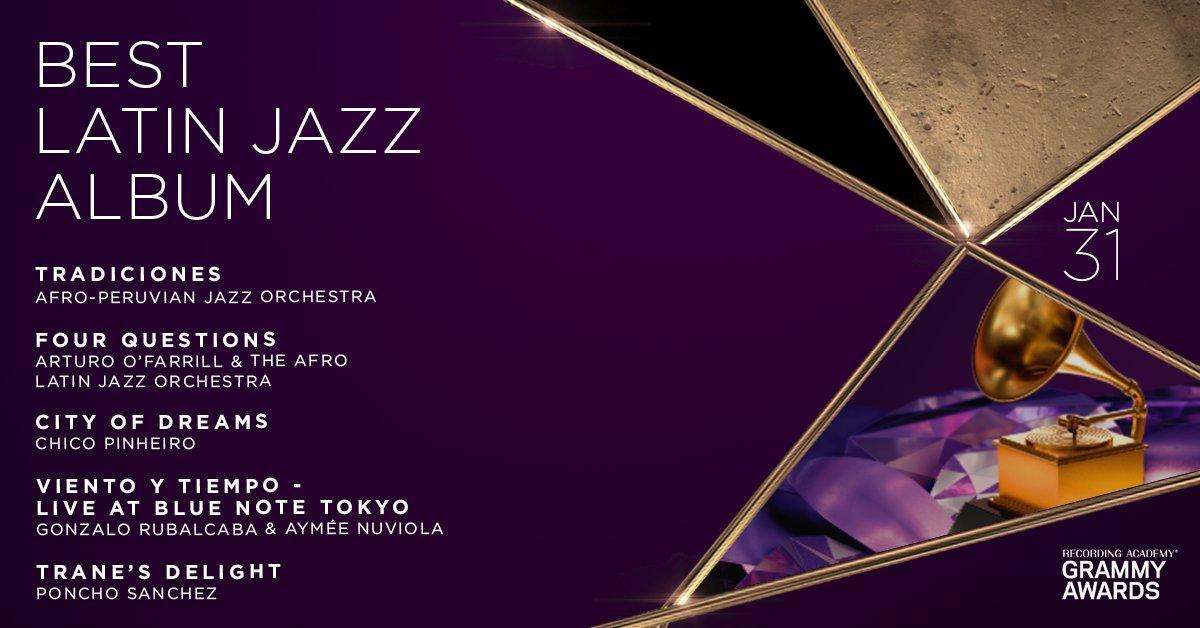 Congratulations 63rd #GRAMMYs Best Latin Jazz Album nominees: