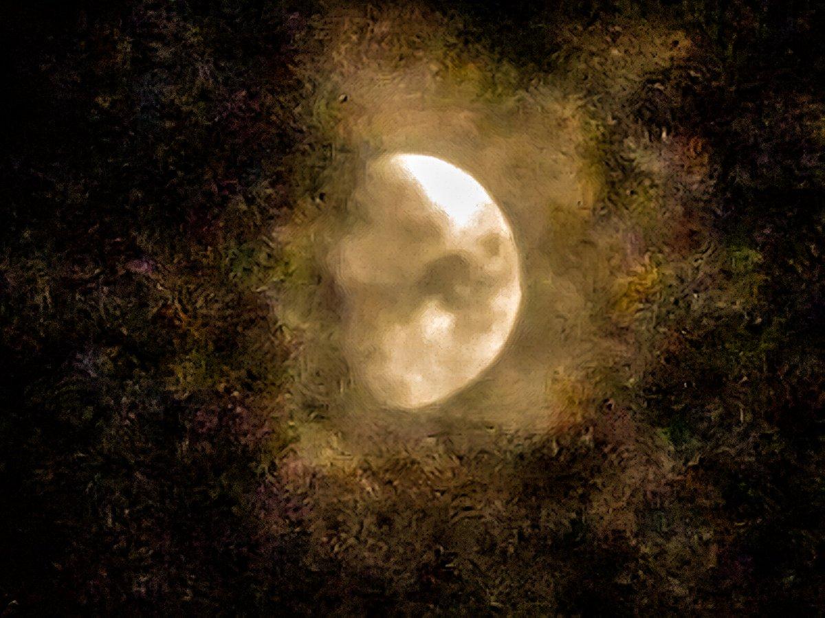 The moon.  #tuesdayvibe