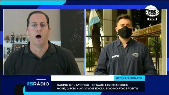 Que momento! Benjamin Back brinca com repórter argentino, e dupla canta ao vivo no FOX Sports Rádio  #FutebolNaESPN #LibertadoresNaESPN   https://t.co/nFCIAYyKez https://t.co/h3PnSKJVmg