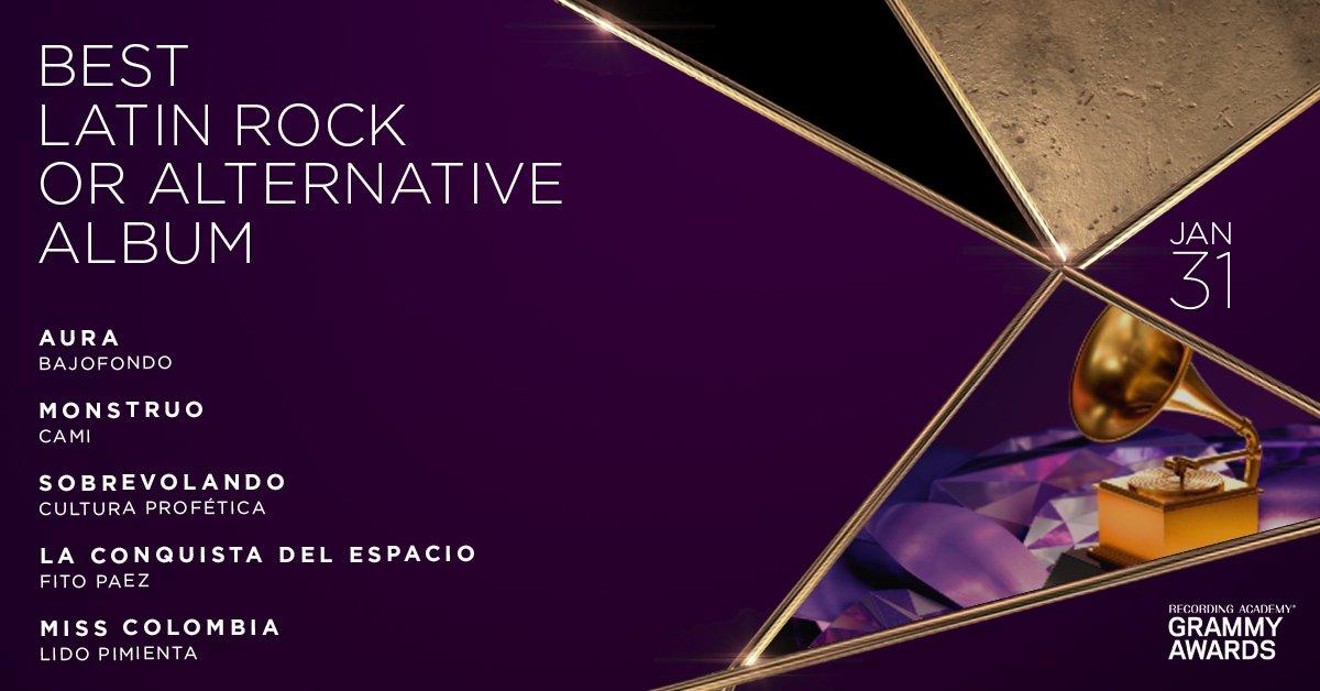 Congratulations 63rd #GRAMMYs Best Latin Rock Or Alternative Album nominees: @Bajofondo, @soycamioficial, @culturaprofetic, @FitoPaezMusica, and @LidoPimienta: