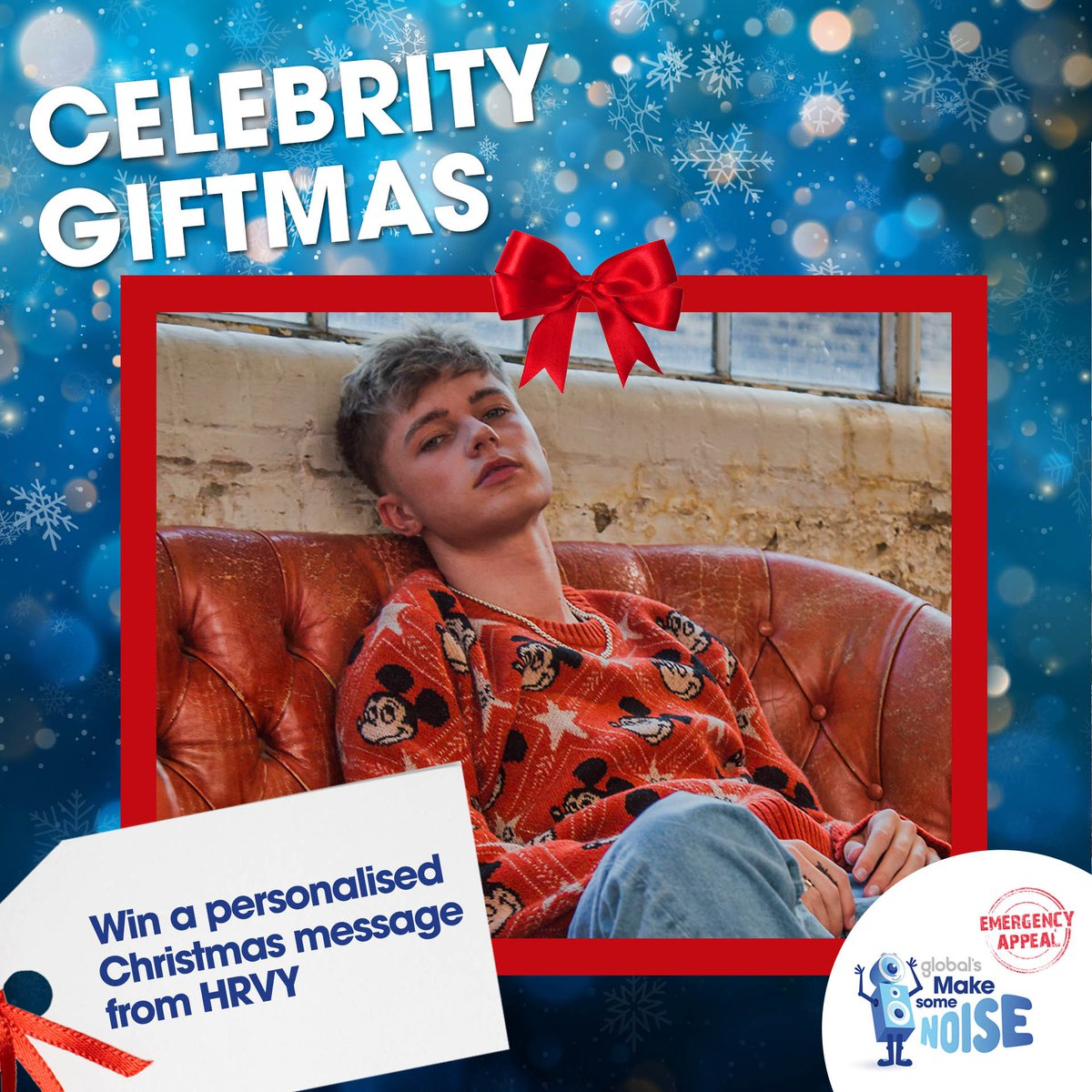 Excited to be part of Global's @makenoise #CelebrityGiftmas 🎁 I'm sending a personalised video message to a special someone this Christmas!  For your chance to #WIN and help those hit hardest by coronavirus across the UK, head here: