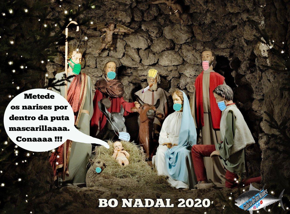 ➡️Este Nadal lembra meter o nariz por dentro da mascarilla... que sacais de quicio a un Santo... #galiciadelosatunes #humorgalego #humor #nadal #navidad2020 Nochebuena y Nochevieja https://t.co/g3DDhjhaCT