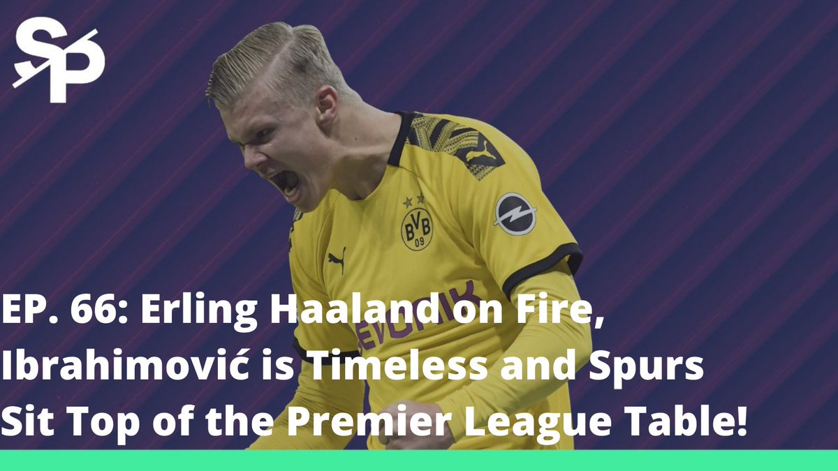 🎙 EP 66 - State Of Play   — Haaland on Fire, Ibrahimović is Timeless and Spurs Sit Top of the Table! ⚽️  • Haaland's scorching hot form • Ibrahimović magic • De Zerbi's Sassuolo impress • Spurs sit atop PL table • Barca drift further in La Liga  ▶️ https://t.co/qIJouUVUQg https://t.co/cDwsMJoDKJ