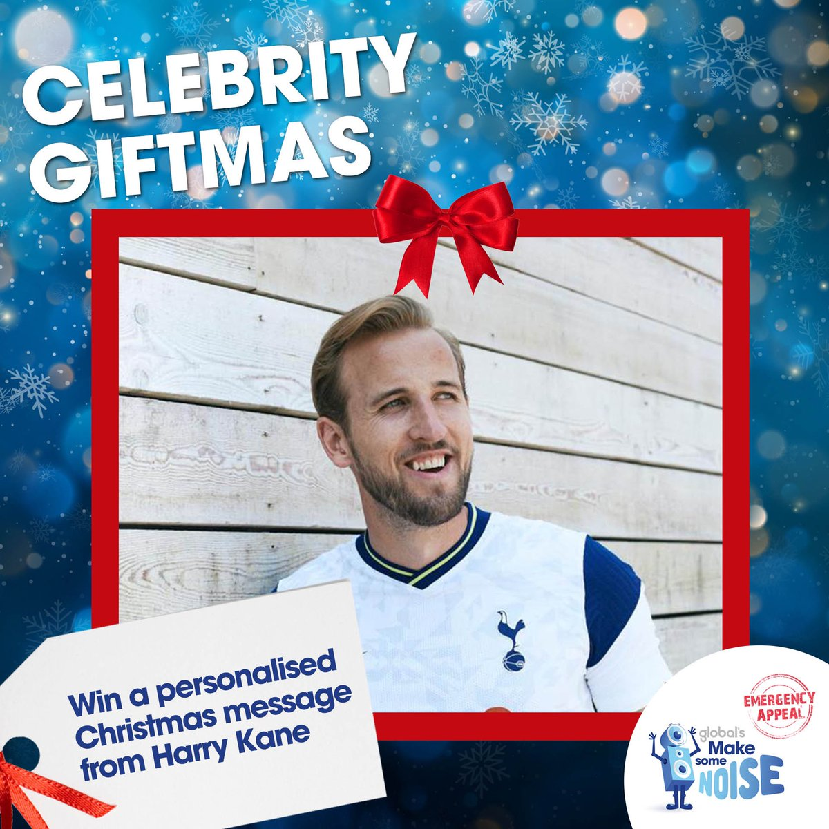 I'm helping those hit hardest by coronavirus across the UK by taking part in Global's@makenoise #CelebrityGiftmas. You can win a video message from me to you, a friend or family member this Christmas. Enter here:
