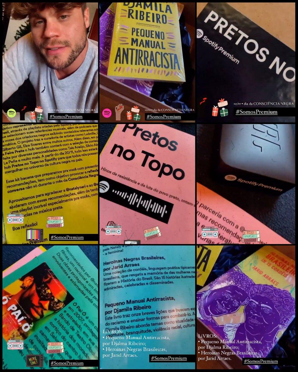 Stories do @BrenoSSimoes .❤ Recebidos @SpotifyBR . Kit #SpotifyPremium - Em Comemoração ao #DiadaConscienciaNegra  #SomosPremium   👇👇👇