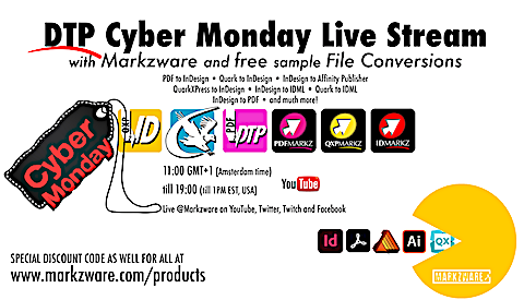 DTP Cyber Monday Livestream Event: Discuss Big Sur, InDesign 2021, Affinity, Markzware Demos, Giveaways, Q&A, Raffle (1 Lucky Winner) + more! Come join us for November 30, 2020 live video broadcast! #Big_Sur #InDesign_2021 #Affinity https://t.co/9NhjYIyifM https://t.co/5W7jTC9K1Z