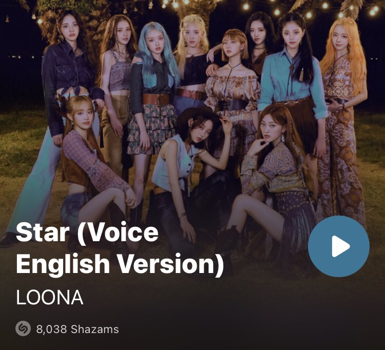WE JUST HIT 8,038 SHAZAMS When the time comes we need the Orbits who are Not Shy like Itzy to try to call the phone lines and the ones who don't like speaking on the phone, prioritize texting/requesting on instagram/twitter/fb. Every Orbit is important. #LOONA_STAR