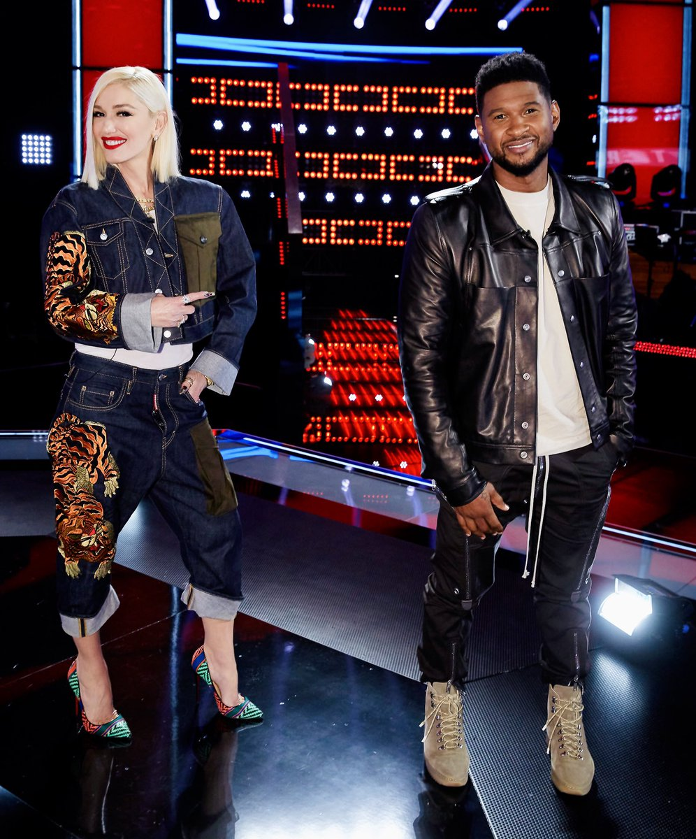 I had the best time working with @Usher this season! ❤️ gx #TeamGwen #TheVoice