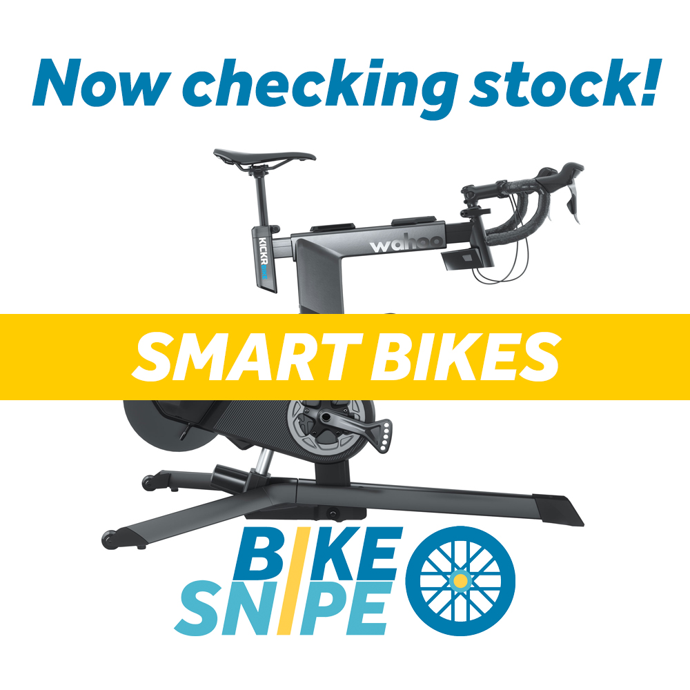 We're now checking stock and sending alerts for two of the most popular smart trainer bikes - the Wahoo KICKR Bike and the Tacx Neo Bike - follow us page for stock alerts or sign up on the website for email alerts. #wahookickrbike #tacxneobike #smartbike #indoortrainers https://t.co/Xgi29TtcOY