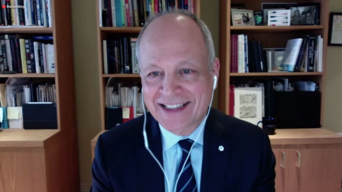 .@UofT president Meric Gertler says he is excited by the idea of enhancing the traditional #CdnPSE model in the future and using innovative digital tools to increase access to higher education for Canadians. #COEE2020