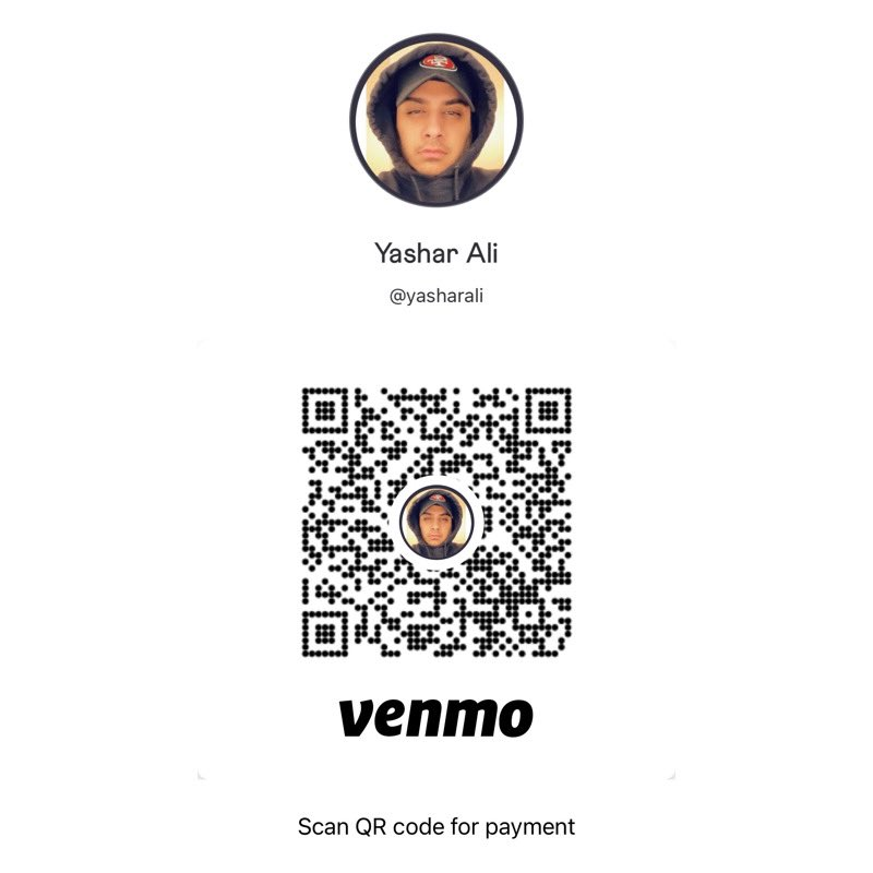3. With stuff shutting down again, I wanted to give away some money to people who are out of work due to Covid.   Please reply to this tweet with what you did for work and include your Venmo AND CashApp QR codes.  Just like this below....please include both!