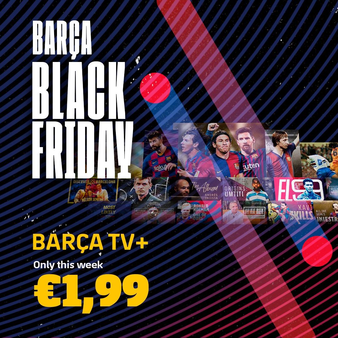 📲💻  Abonnez-vous à Barça TV+ cette semaine et profitez de notre remise pour le Black Friday !   👉  #OnlyForCulers