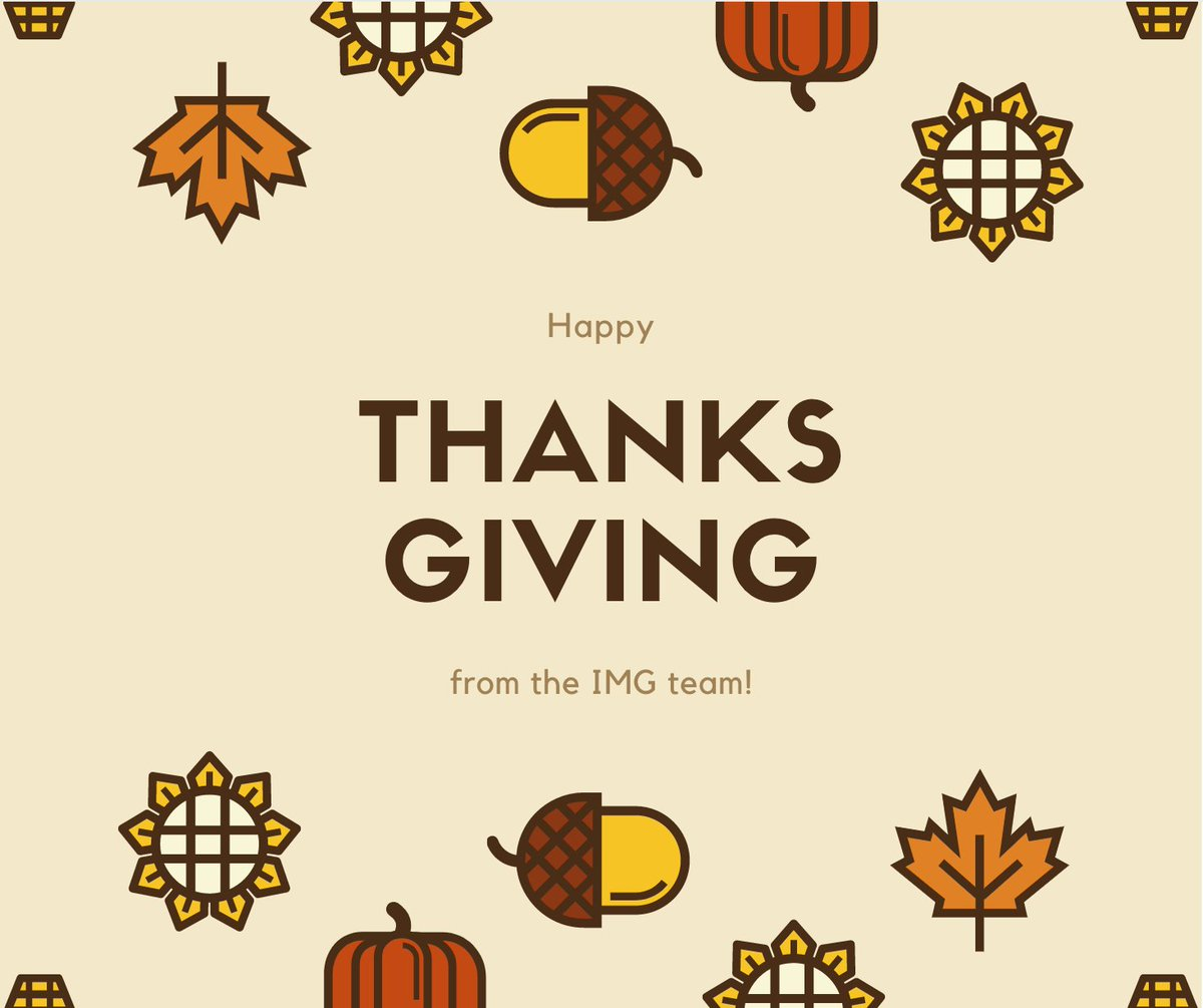 We hope everyone enjoys a safe, relaxing holiday! #Thanksgiving2020