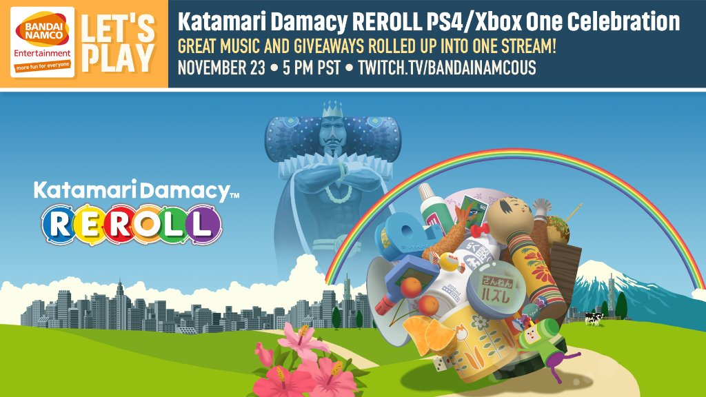 Join us today at 5pm PST as we restore order to the cosmos and play Katamari Damacy REROLL!  Catch the intergalatic action only on: