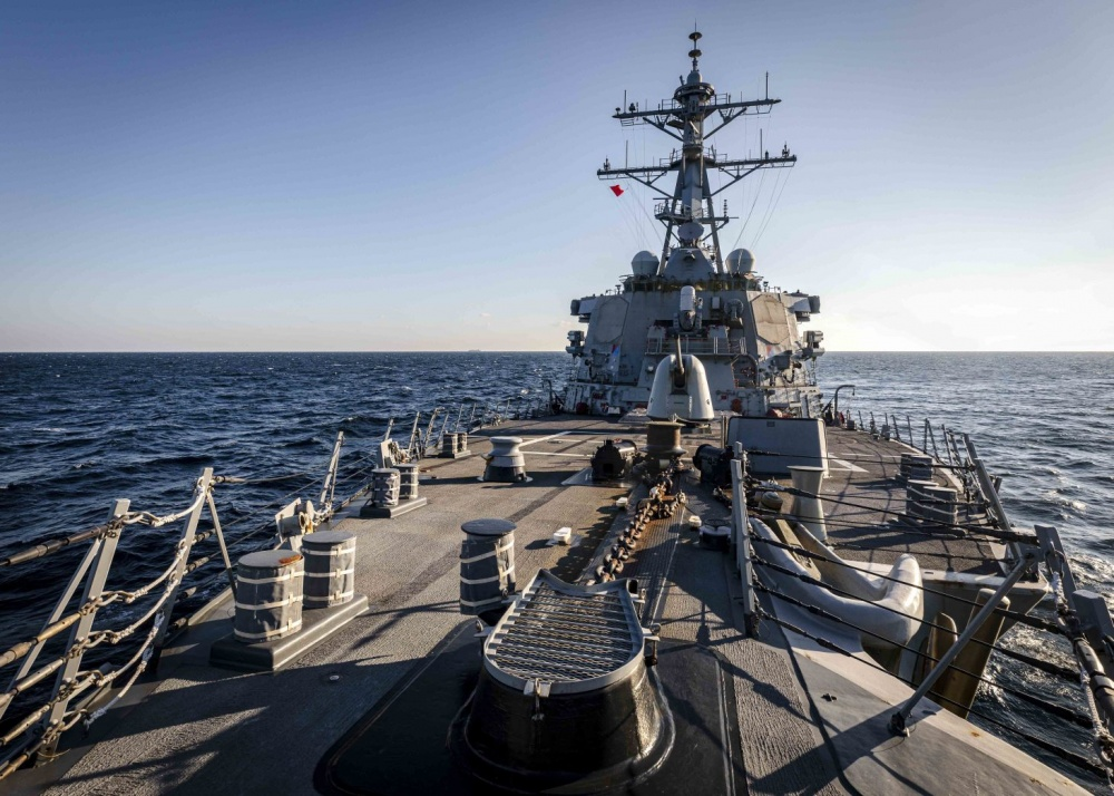 """""""This freedom of navigation operation upheld the rights, freedoms, and lawful uses of the sea recognized in international law by challenging Russias excessive maritime claims."""" #USNavys #USSJohnSMcCain conducts Freedom of Navigation Operation ➡️ go.usa.gov/x7GCr"""