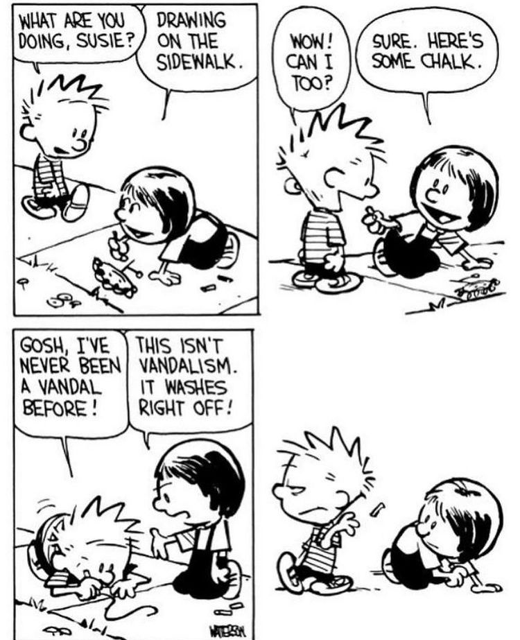 Well that ruined the fun! #CalvinandHobbes
