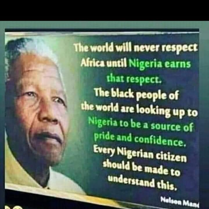 If and when all Nigerians flee Nigeria for loosing hope in their motherland, who then will save Africa from the looming disaster. It begins with I and You.  Nigeria Will Be Great In my Time.  #Iwillvote.