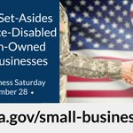Service-Disabled Veteran-Owned Small Businesses may be eligible for set-asides in federal contracts. For #SmallBusinessSaturday, learn how GSA can help your #SmallBusiness: https://t.co/tmQIKMJRR5 @SBAGov @GSAOSDBU #ShopSmall