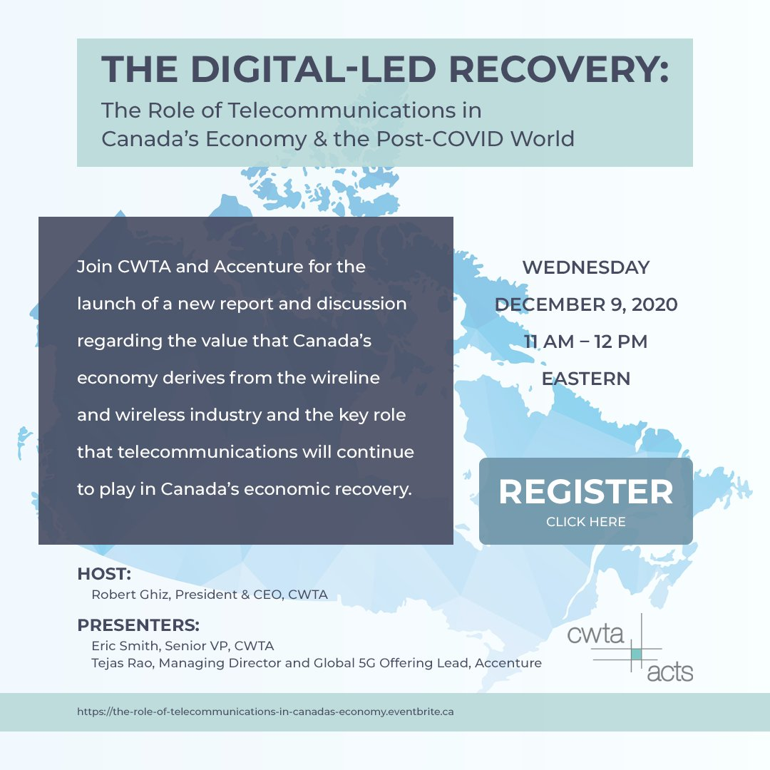 test Twitter Media - The CWTA is hosting a virtual discussion with President & CEO @RobertGhiz, SVP Eric Smith and @Accenture's Tejas Rao for the release of a new report, Investing in Canada's Digital Infrastructure: The Economic Impact of Wireless/Wireline Broadband and the Post-COVID Recovery (1/2) https://t.co/G8XZj9kOU1