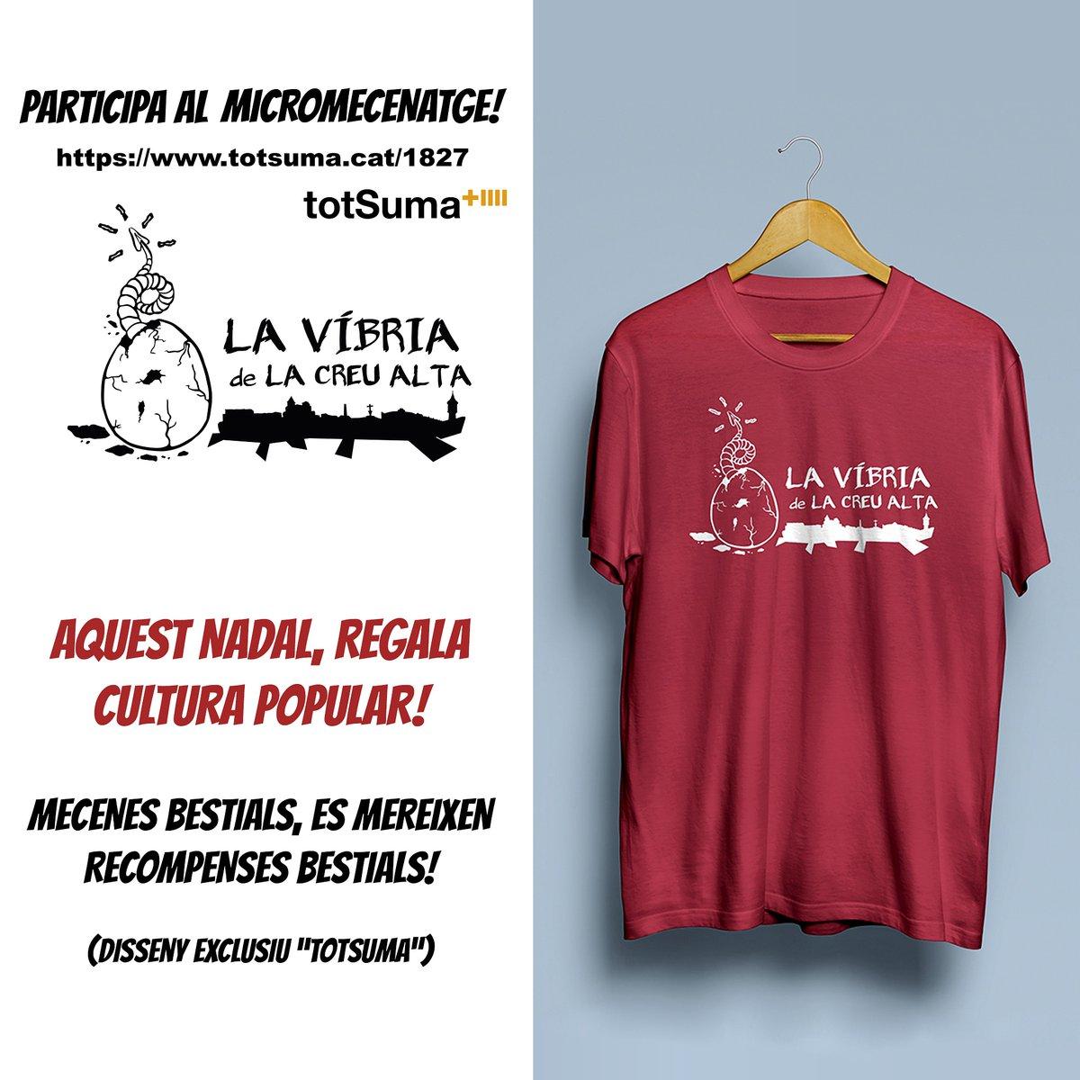La samarreta de La Víbria! 😈  Fes-te mecenes i ajuda'ns a arribar a l'objectiu per fer néixer la bèstia! 🔥 ➡️ https://t.co/5eH61Cidt9  Aquest #nadal regala #culturapopular!  @tot_suma @PetitSabadell @sbdcultura https://t.co/kgvWUPbsYG