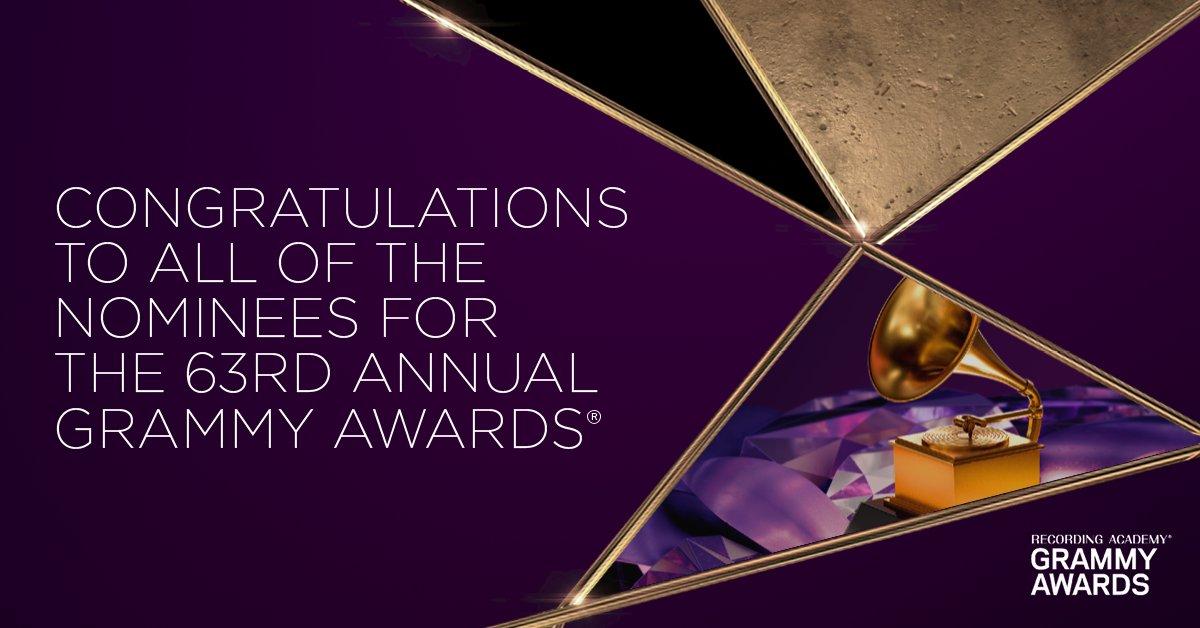 ¡Felicidades a todos los nominados! #GRAMMYs  @RecordingAcad