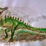 Image for the Tweet beginning: アビオルグはフロンティア初のブルートワイバーンです。ペピノサウルスのずっと前に、私のお気に入りの1つであるこのモンスターがいました。   私の絵が気に入ってくれたらもっと頑張ります♡  #MonsterHunter #MHF #モンスターハンターフロンティア
