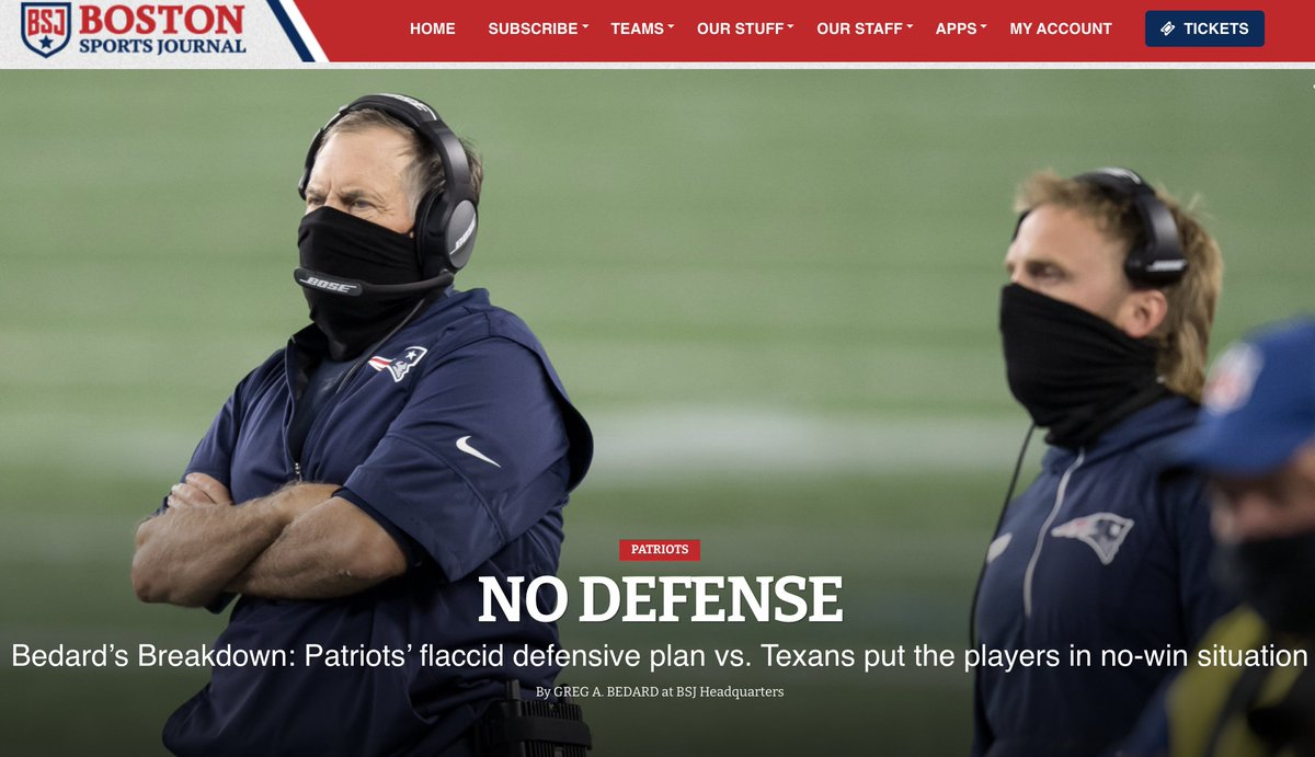 Breakdown: Patriots' flaccid defensive plan vs. Texans put the players in no-win situation @BostonSportsBSJ https://t.co/xqsEt8pXFF https://t.co/czd8SU76Gs