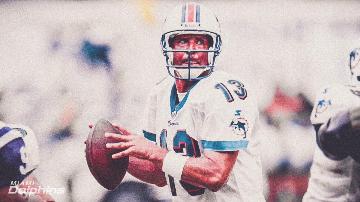 On this day in 1995, @DanMarino completes his 343rd career scoring pass and becomes the NFL's all-time touchdown pass leader (surpassing Fran Tarkenton's 342 TDs).