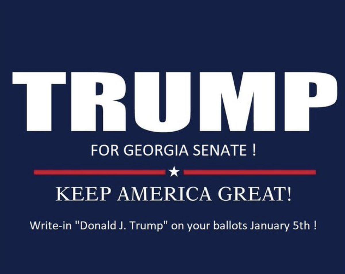 Own the Libs!!   #WriteInTrumpForGA