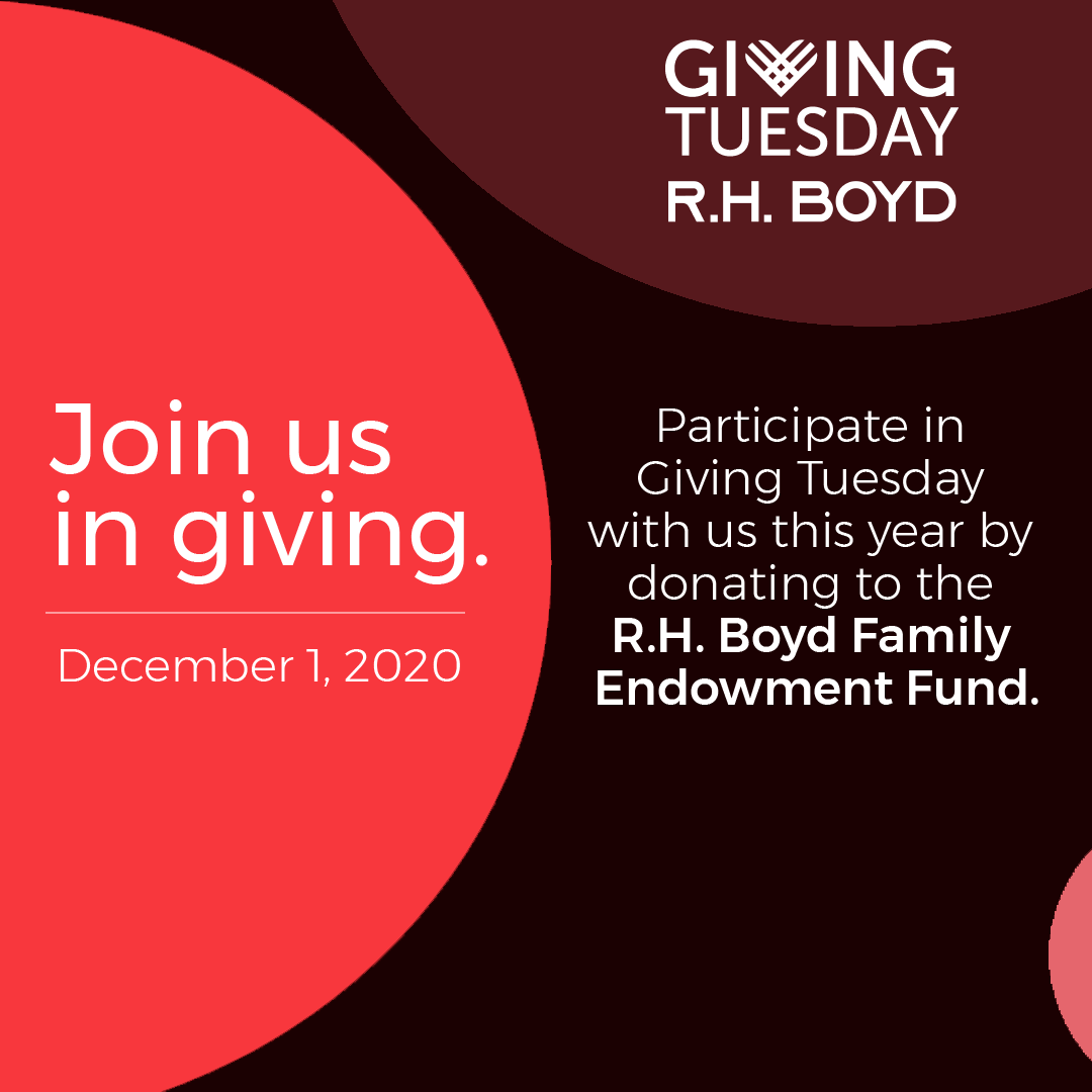 Save the date for Giving Tuesday! Join us in giving to help encourage churches, organizations, and deserving students to attain goals and standards for the betterment of the total community.    #rhboydco #givingtuesday #giveback #nonprofit #donate #charity