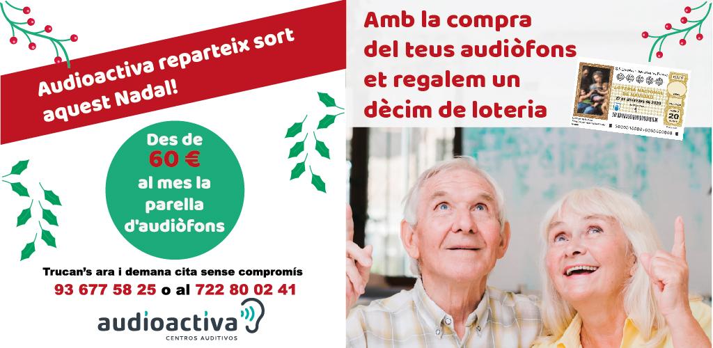Audioactiva reparteix sort aquest #Nadal! Amb la compra dels teus #audiòfons et regalem un dècim de #loteria. A més aun preu increïble, des de 60 euros al mes. Demana cita i aconsegueix el teu dècim: 📞 Trucan's al: 93.677 58 25 📍 Visitant-nos a: Rbla. Guipúscoa 131. Barcelona https://t.co/1T6H7wntSI