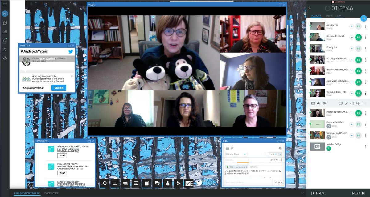 If you missed the #DisplacedWebinar today, you can watch the whole webinar (including film) until Dec. 1 on @CASW_ACTS website. They will post when the video is available. @CaringSociety @cblackst @ACSWsocialwork @SpiritBear