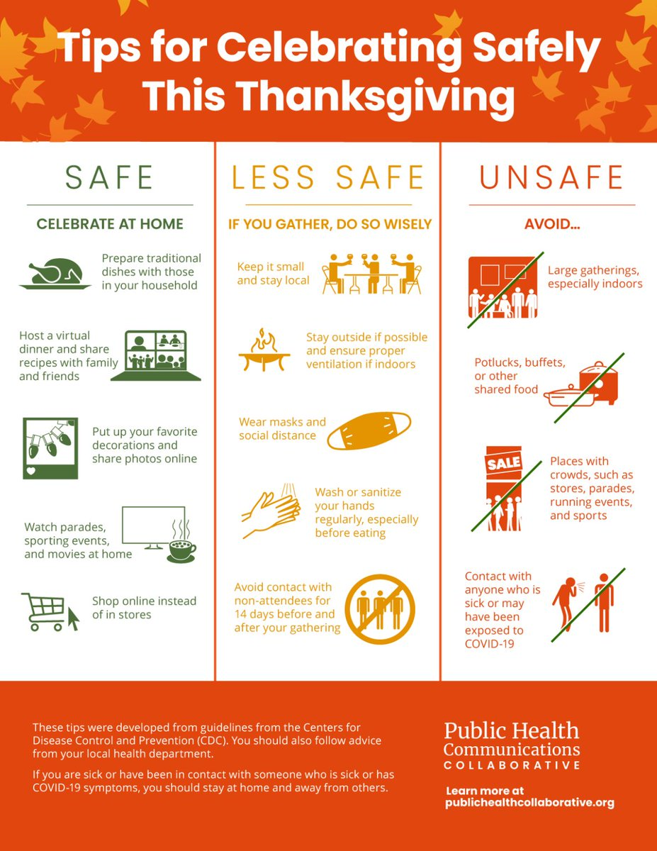 With Thanksgiving a few days away, please remember to celebrate safe and observe CDC guidelines for gatherings. #PCStaySafe #WearAMask #SafeCelebration https://t.co/F5fXNjEFg2