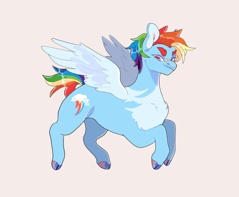 short hair rainbow dash, I don't make the rules 🌈