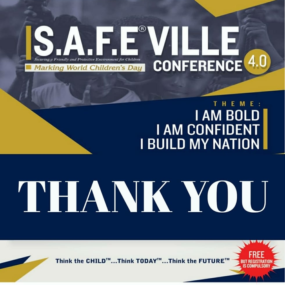 THANK YOU ALL  Our S.A.F.E®VILLE CONFERENCE 2020(4.0), marking World Children's Day was held on Friday & Saturday, November 20 & 21 2020.../2 https://t.co/evZR4mlqrb
